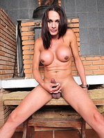 Chelsea j blair Charming brunette ladyboy posing her huge titties & cock.