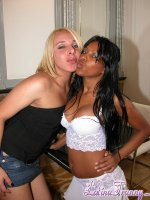 Alana mielle and a girl. Black chick suc the heavy tool of shemale Alana Mielle
