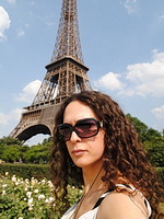 Nicole in paris eiffel tour. Seductive ladyboy on a trip in Paris
