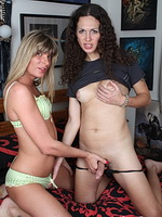 Nicole and angelina torres. Irresistible tranny babes playing with each other