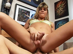 Nicole n angelina. Exciting tranny riding on a big fat tranny penish