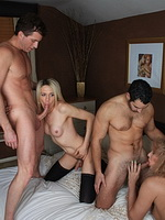 Alison dale 4some war  pretty alison dale fuck in a hardcore foursome. Charming Alison Dale have sexual intercourse in a hardcore foursome