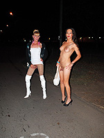 Ts street sluts. Naked Nicole poses on the streets