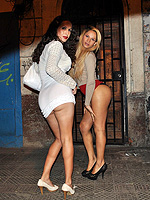 Nicole montero  street tranny sluts  lusty nicole poses with a hot tgirl. Exciting Nicole poses with a hot tranny