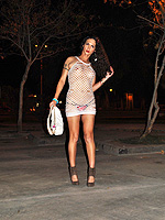 Ts nikki is a street whore. Nikki posing as a street prostitute