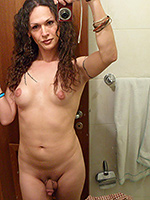 Nikki hotel naked selfies. Dirty tranny Nikki shows it all