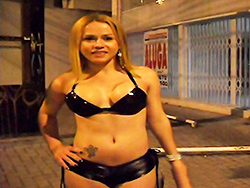 Sao paulo streets. Nikki with a tranny in public