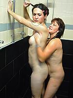 Nikki and milf in the shower Nikki gets blowed in the shower. Nicole Montero.