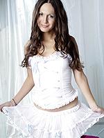 Nicole montero glamorous in white. Glamorous Nicole Montero posing in white