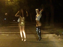 Nikki is a street prostitute Lustful Nicole Montero teasing guys on the street.
