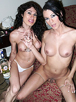 Trannies from venezuela Tgirls from Venezuela blowing each other.